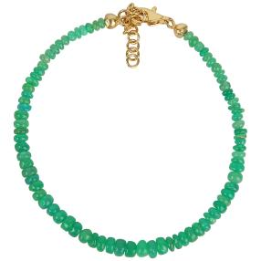 Armband Äthiopischer Opal grün 925 vergoldet