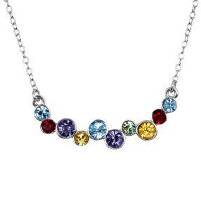 Collier 925 Silber,Swarovski® Kristalle multicolor