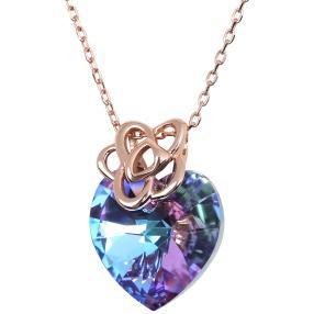 Collier 925 rosévergoldet Swarovski® Kristalle