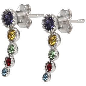 Ohrstecker 925 Silber, Swarovski® Kristalle multi