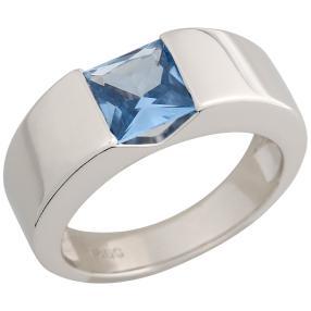 Ring 925 Sterling Silber Zirkonia hellblau