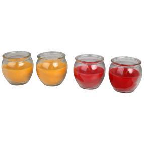 Duftkerze 4tlg., Mango-Sorbet und Erdbeer-Traum