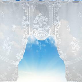 Bogengardine Mona Teekanne, 120x105 cm
