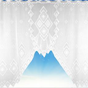 Bogengardine Diamond, weiß, 150x120 cm