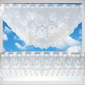 Gardinenset 2er-Set MONA BLUME 2, 160x30+160x60 cm