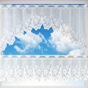 Gardinenset 2er-Set MONA BLUME 3, 160x30+160x60 cm