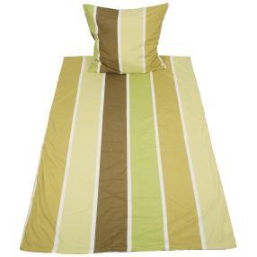 AllSeasons Bettwäsche 2-teilig, grüne Streifen