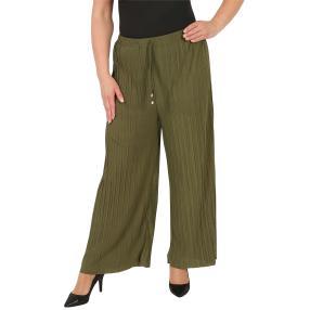 Weite Damen-Plissee-Hose Onesize (40-46) grün