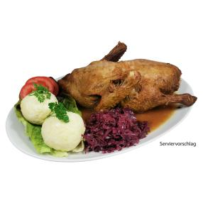 Rhönis Festtags-Ente an Geflügelsoße