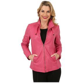 OTTO KERN Damen-Lederjacke 'Elena' pink