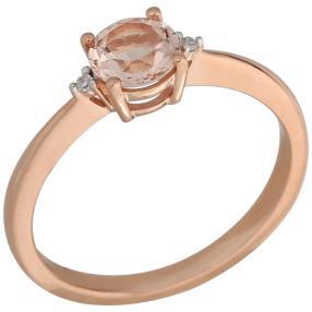 Ring 585 Roségold Morganit Brillanten