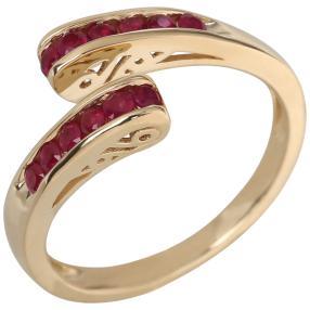 Ring 585 Gelbgold Thailand Rubin