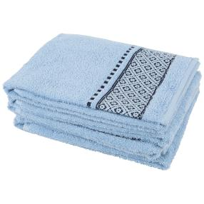 Handtuch 4tlg. Raute hellblau 50x100 cm