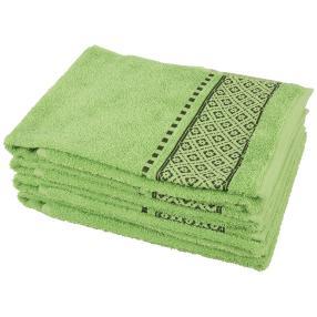 Handtuch 4tlg. Raute grün, 50x100 cm