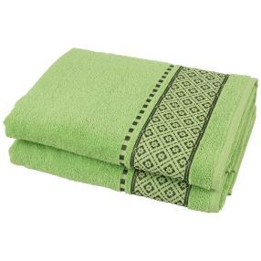 Duschtuch 2tlg. Raute grün 70x140 cm