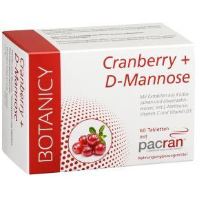 BOTANICY Cranberry + D-Mannose, 60 Tabletten