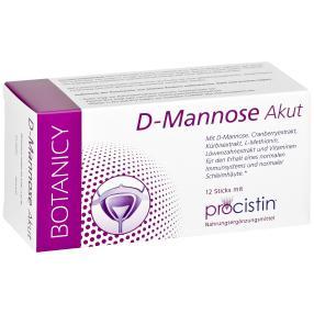 BOTANICY D-Mannose + Cranberry Akut, 12 Sticks