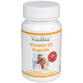 ViaBia Vitamin D3 Kapseln 75 Stück