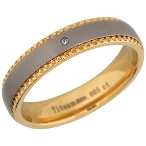 Ring Titan bicolor mit Brillant