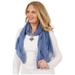 Lilli B. Schmuckschal blau