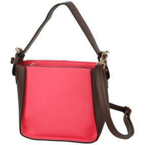 Bags by CG Damen Henkeltasche, braun, pink
