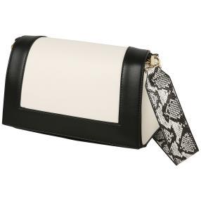 Bags by CG Damen Schultertasche, schwarz, weiß