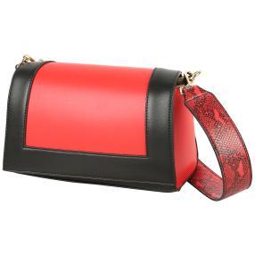 Bags by CG Damen Schultertasche, rot, schwarz