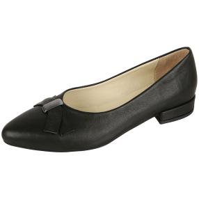 CALVIN SMITH Damen-Lederballerinas Absatz