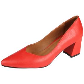 CALVIN SMITH Damen Lederpumps, rot
