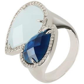 Crystal Secrets Ring, silber