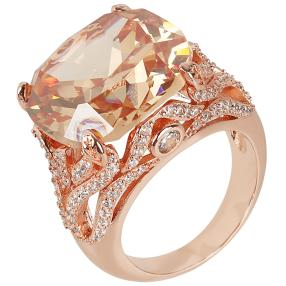 Crystal Secrets Ring, Bronze
