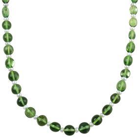 Collier Bernstein grün Süsswasserzuchtperlen