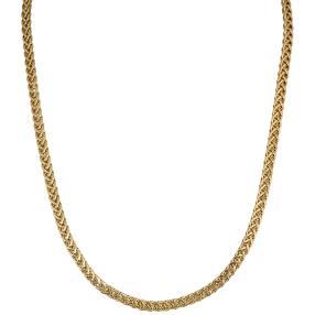 Zopfkette flach  375 Gelbgold, ca 45 cm