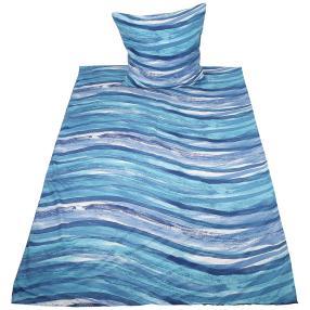 AllSeasons Bettwäsche 155 x 220 cm, blaue Wellen