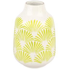 Keramik-Vase bemalt gelb
