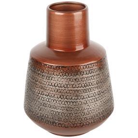 Keramik Vase Oriental kupfer