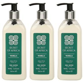 SECRET OF AFRICA Body Lotion 3 x 300 ml