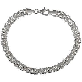 Königsarmband 950 Silber, ca. 21 cm