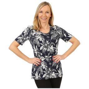 RÖSSLER SELECTION Damen-Shirt 'Porto' blau/weiß