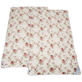 Stoffhanse Steppdecke floral, 2er Set