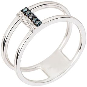 Ring 925 Sterling Silber rhodiniert Diamanten