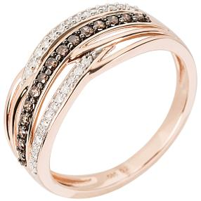 Ring 585 Roségold Chocolate Brillanten