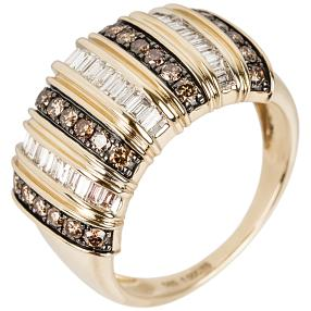 Ring 585 Gelbgold Chocolate Brillanten, poliert