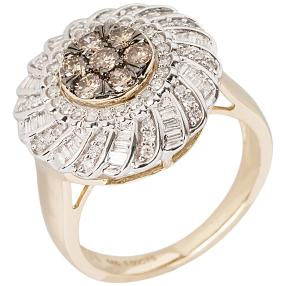 Ring 585 Gelbgold Chocolate Brillanten