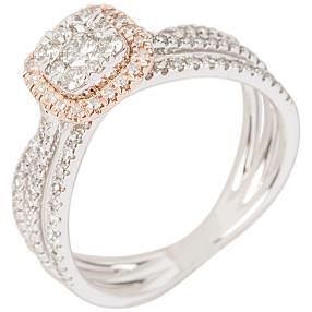 Ring 585 RG/WG Diamanten