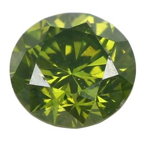 Edelstein Brillant ca. 0,13 ct. grün behandelt