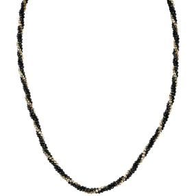 Collier Spinell + Hämatit 925 St. Silber vergoldet