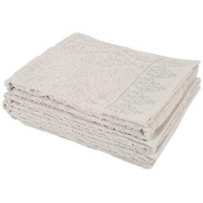 Handtuch 4-teilig hellgrau, orientalisch