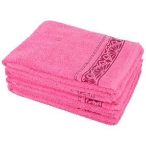 Handtuch 4-teilig pink, Ornamente