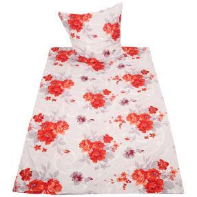 Rose Dream Bettwäsche 2-teilig, rote Blüten
